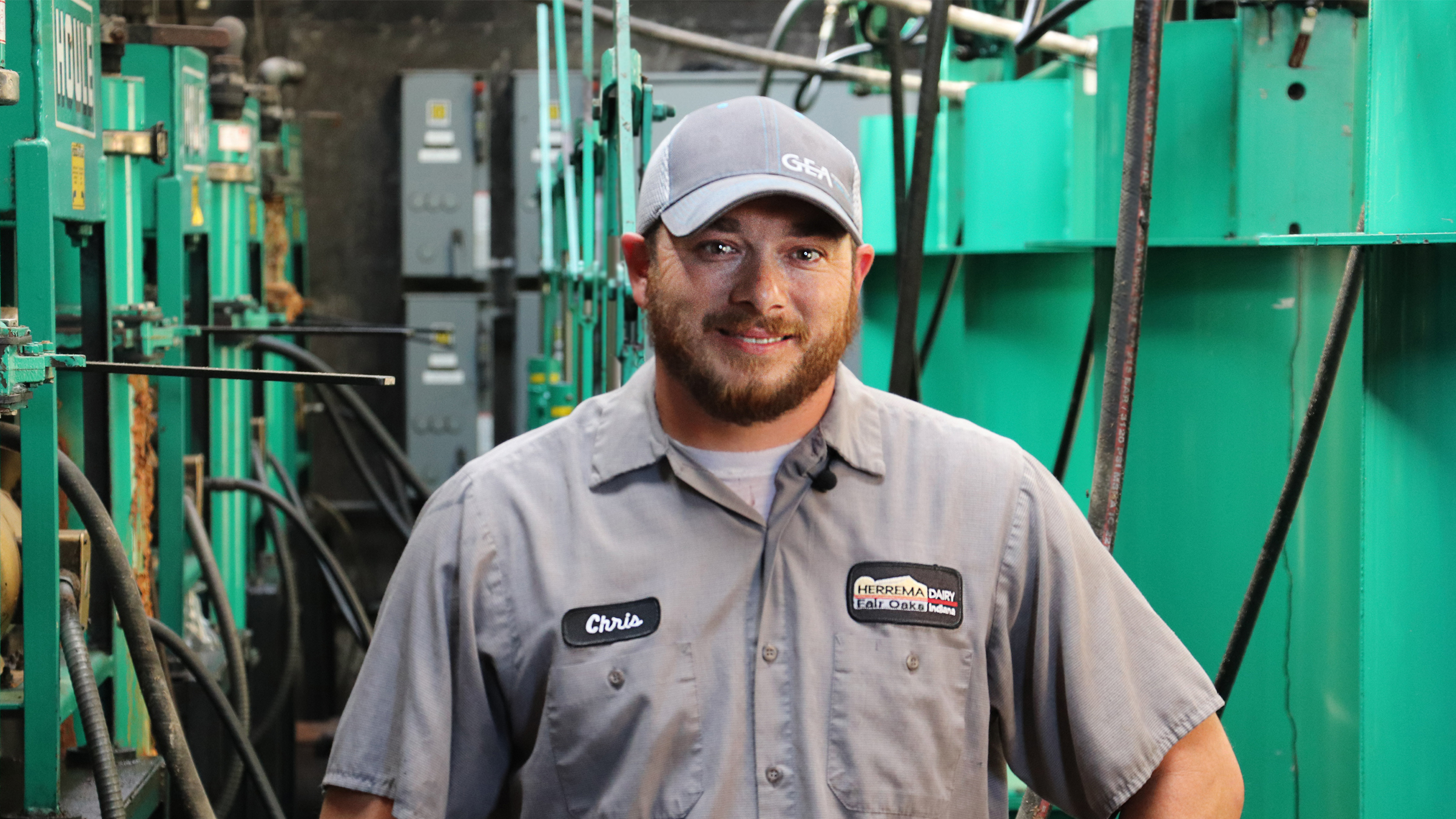 Chris Peck, Wartungsmanager bei Herrema Dairy in Fair Oaks, Indiana, USA