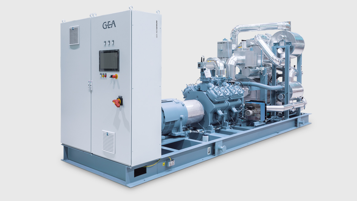 GEA RedGenium - low-charge NH3 heat pump for sustainable heating