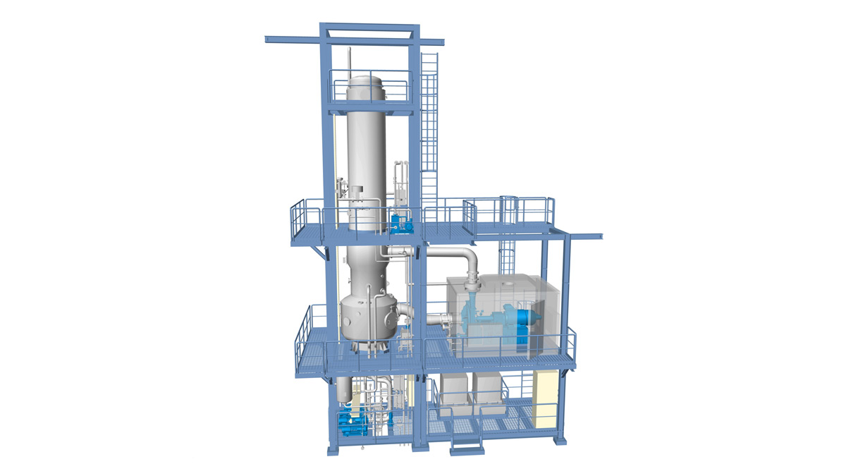 A 3D graphic of the GEA evaporator (Graphic: GEA)