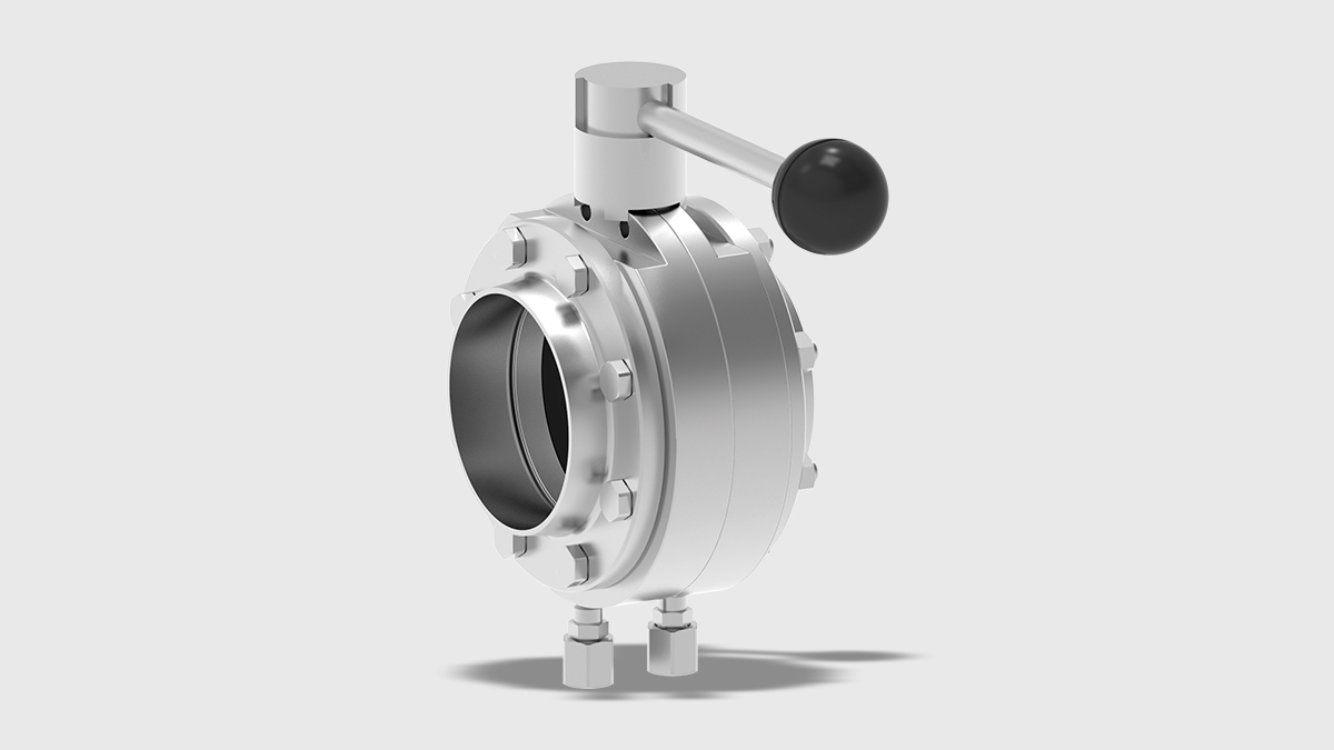 T-smart 9 Butterfly Valve Intermediate Flange Variant with Manual Actuator