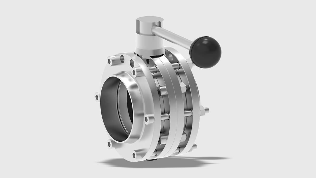 T-smart 7 Butterfly Valve VV with Manual Actuator