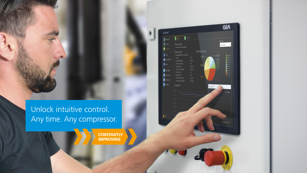 GEA Omni™ Retrofit Panel - The Intuitive Touch for Screw Compressor Control.