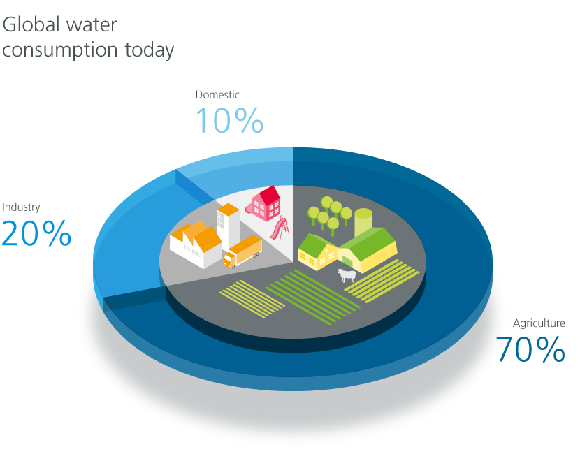 Global water consumption today