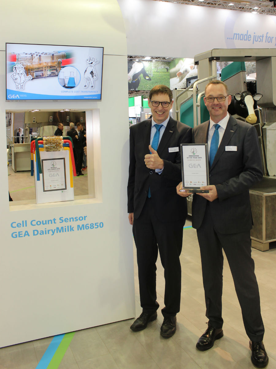 "Cell count sensor GEA DairyMilk M6850 wins Audience Award as ""Novelty of the Year"" at EuroTier 2018"