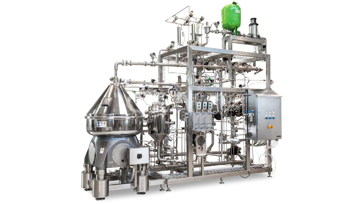The GEA CSI separator is used for the centrifugal harvesting of bacteria after fermentation at Jiangsu Wecare Biotechnology's new probiotic powder production plant.