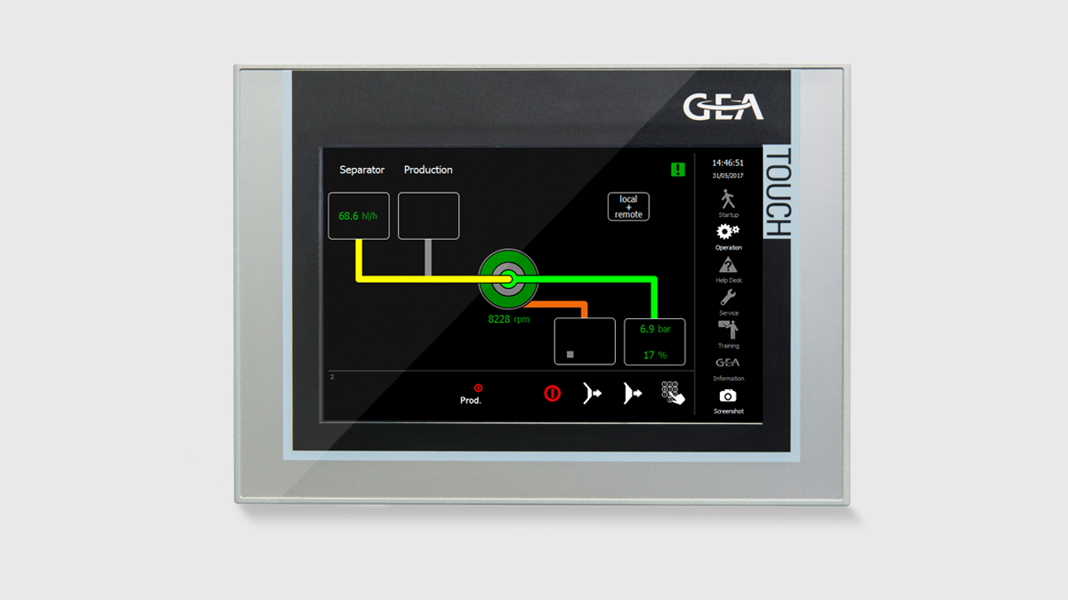 GEA IO Operatingscreen