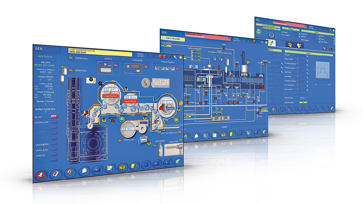 Examples of HMI panel's screens