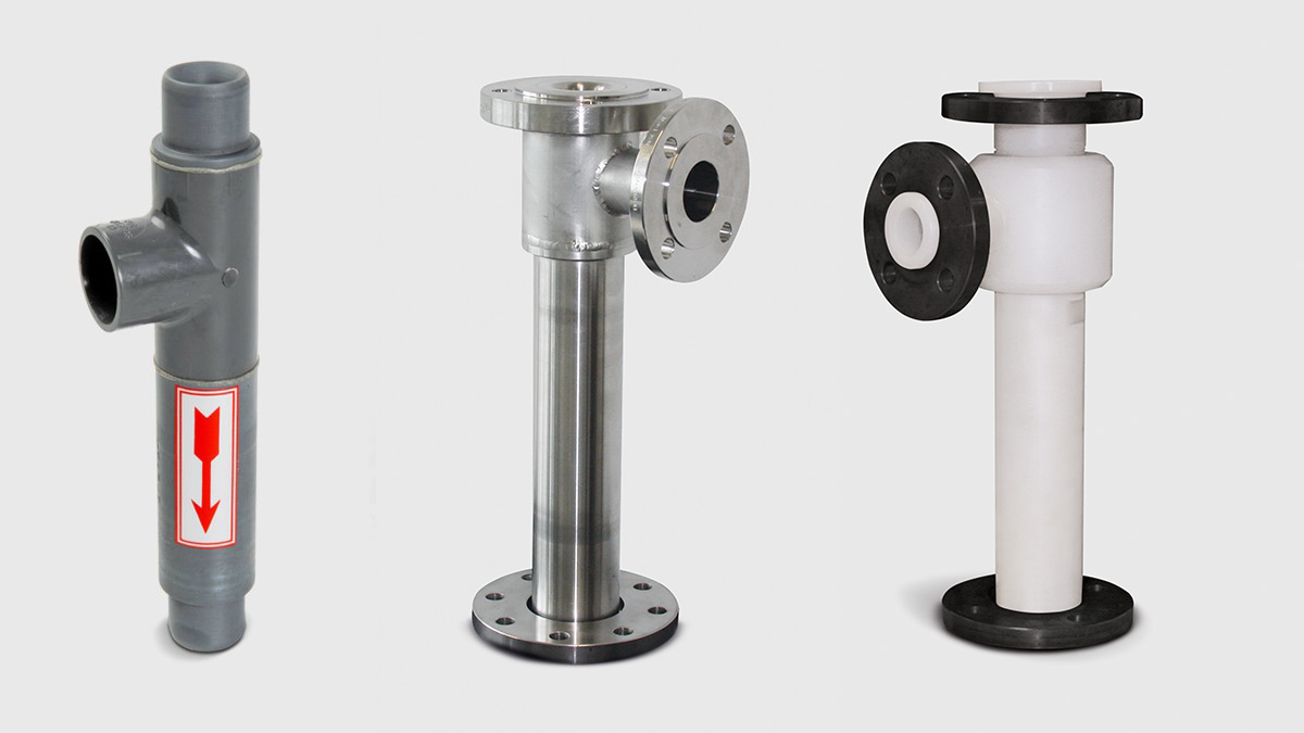Liquid jet liquid pumps