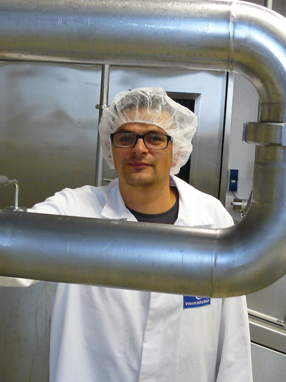 Christian Suppan, Head of Maintenance at Vorarlberg Milk