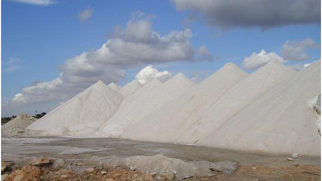 Product salt mountain