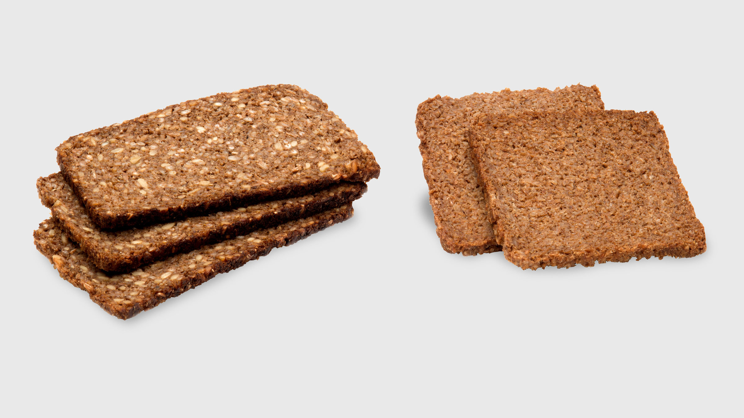 Rye bread slices