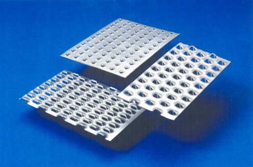 Various types of perforated plates