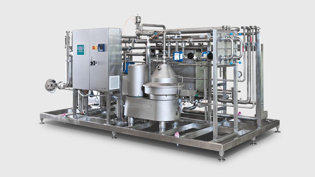 pasteurizador de leche compacto mwa para leche, nata y lactosuero