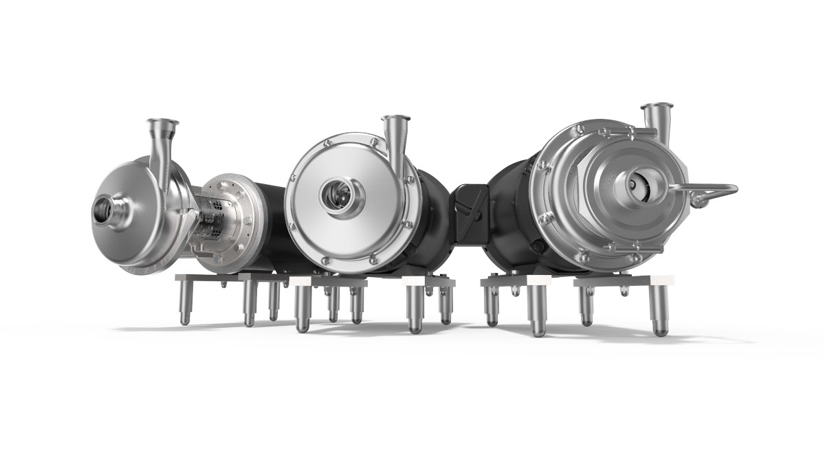 GEA's three key series of centrifugal pumps are now available with NEMA motors and  3-A certificates. The reliable pumps can be used for a wide range of applications in the US dairy, food and beverage industries. (Photo: GEA)