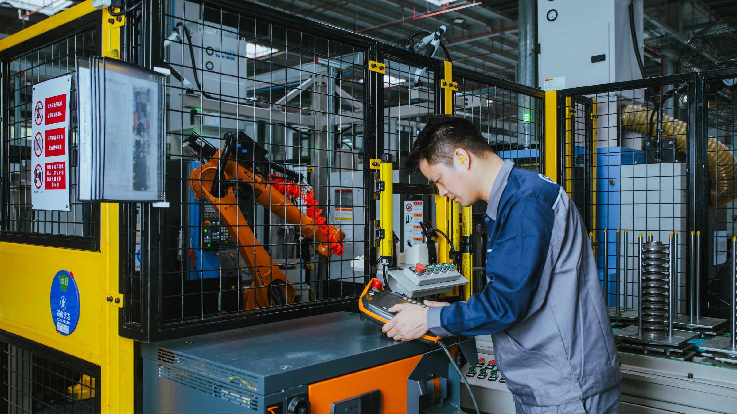 Robotic production line for flange manufacturing at GEA Flow Components site, Suzhou, China.