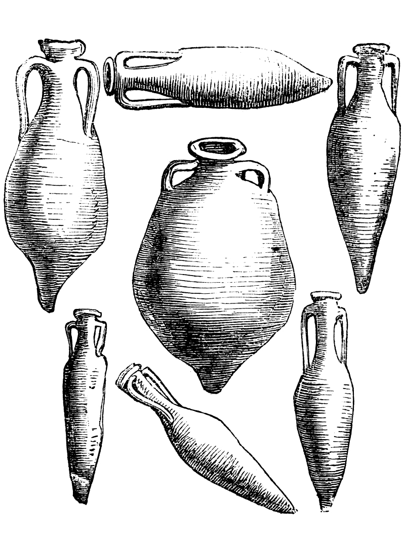 Examples of Romans' airtight terracotta Amphoraes