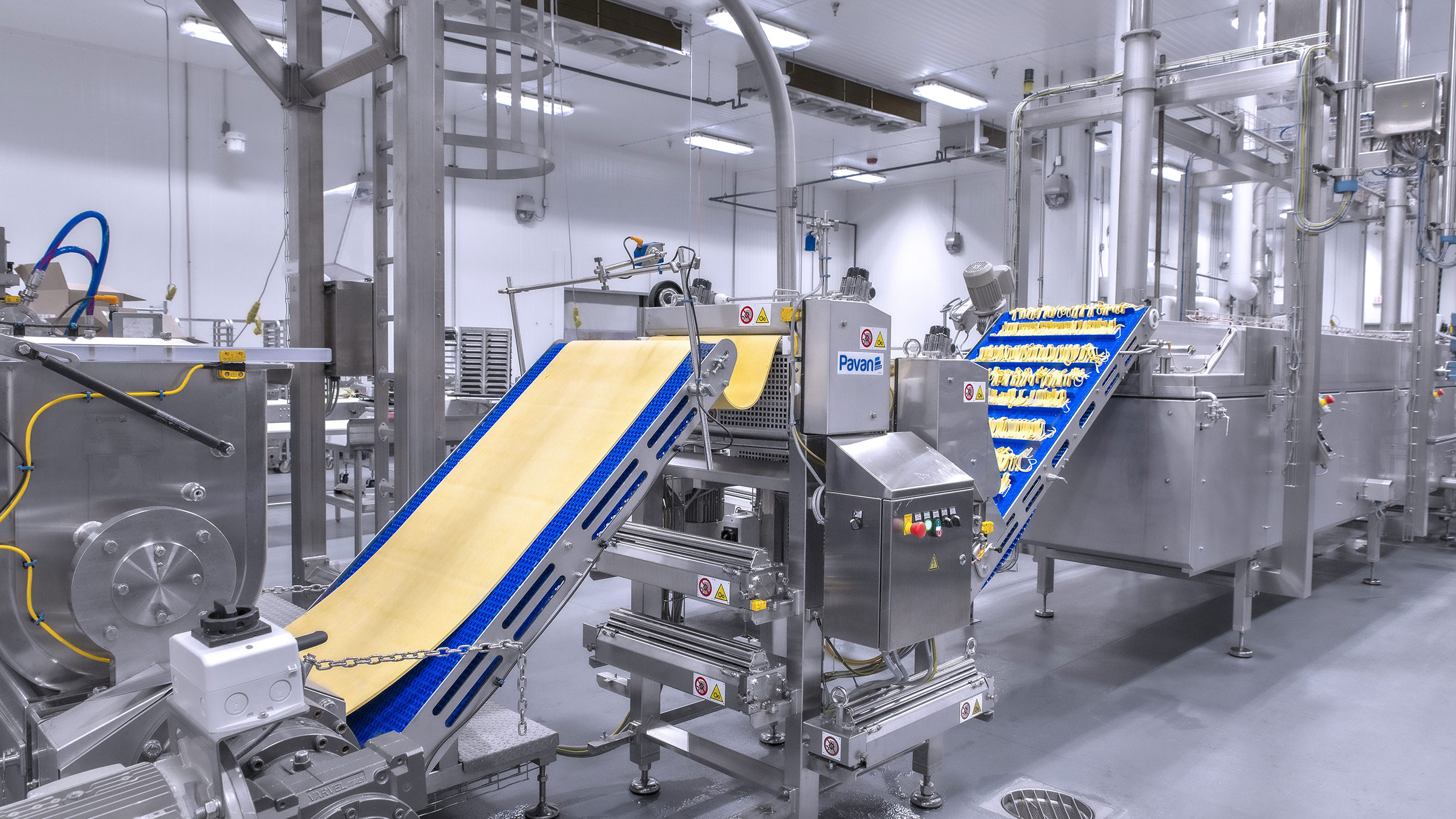 Mazzone pasta manufacturing equipment supplied by Pavan