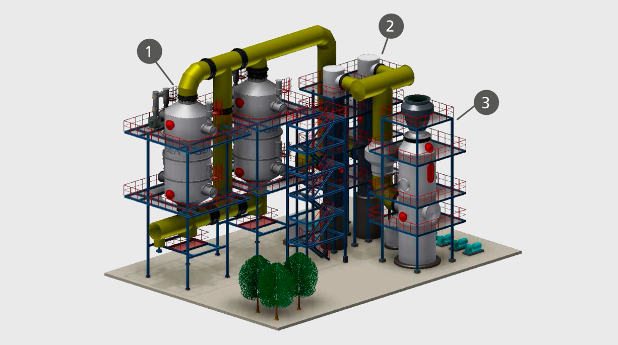 wet gas cleaning plant with wet esp