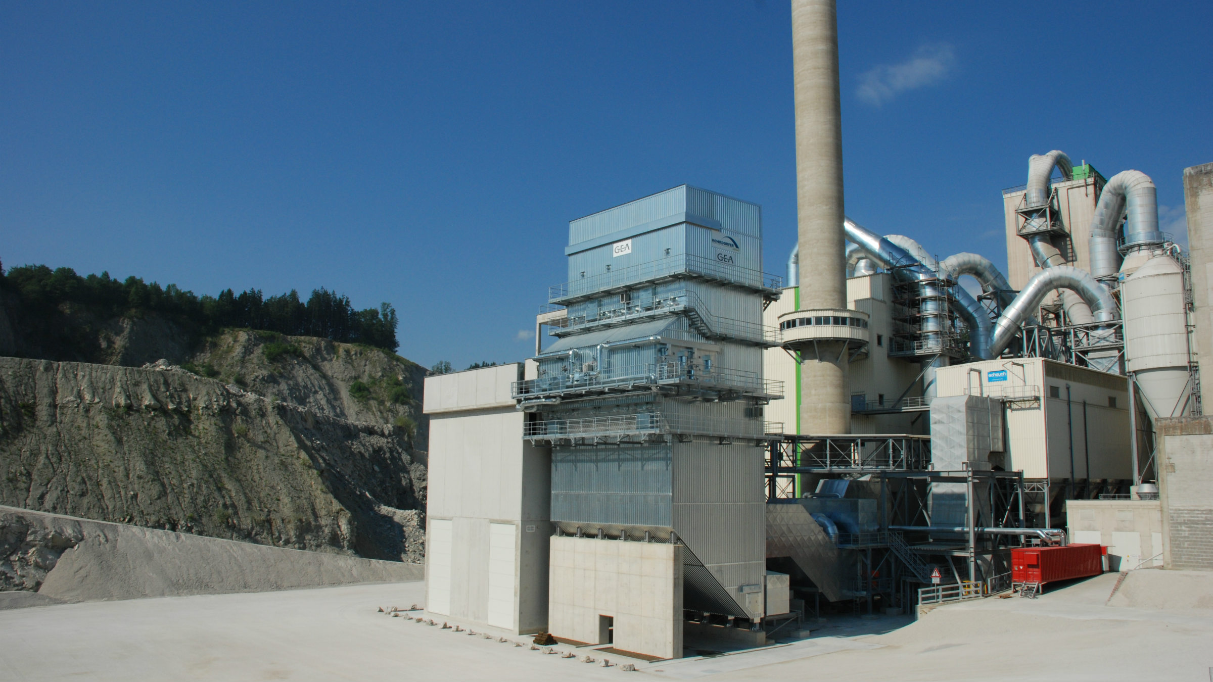 An example of a GEA flue gas treatment plant for nitrogen oxides. (Photo: GEA)