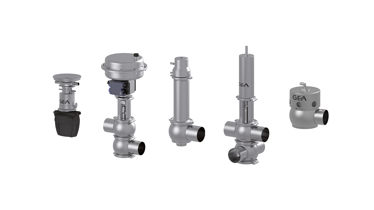 GEA VARIVENT® Hygienic valves with special functions