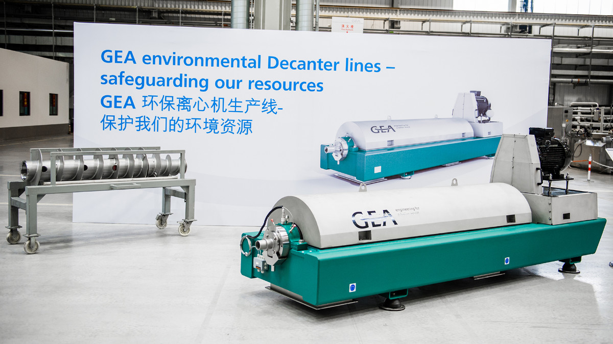 GEA environmental Decanter pro for sludge treatment from the Tianjin plant