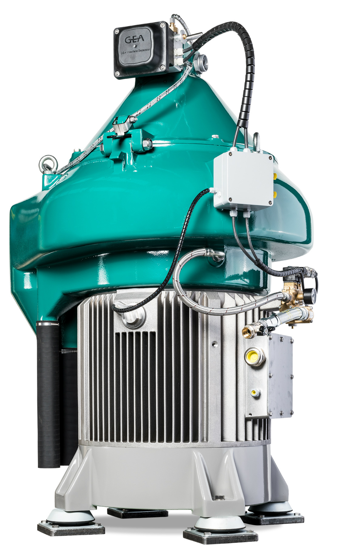 The new GEA marine Separator with integrated direct drive, sustainably increases efficiency on board. (Photo: GEA)