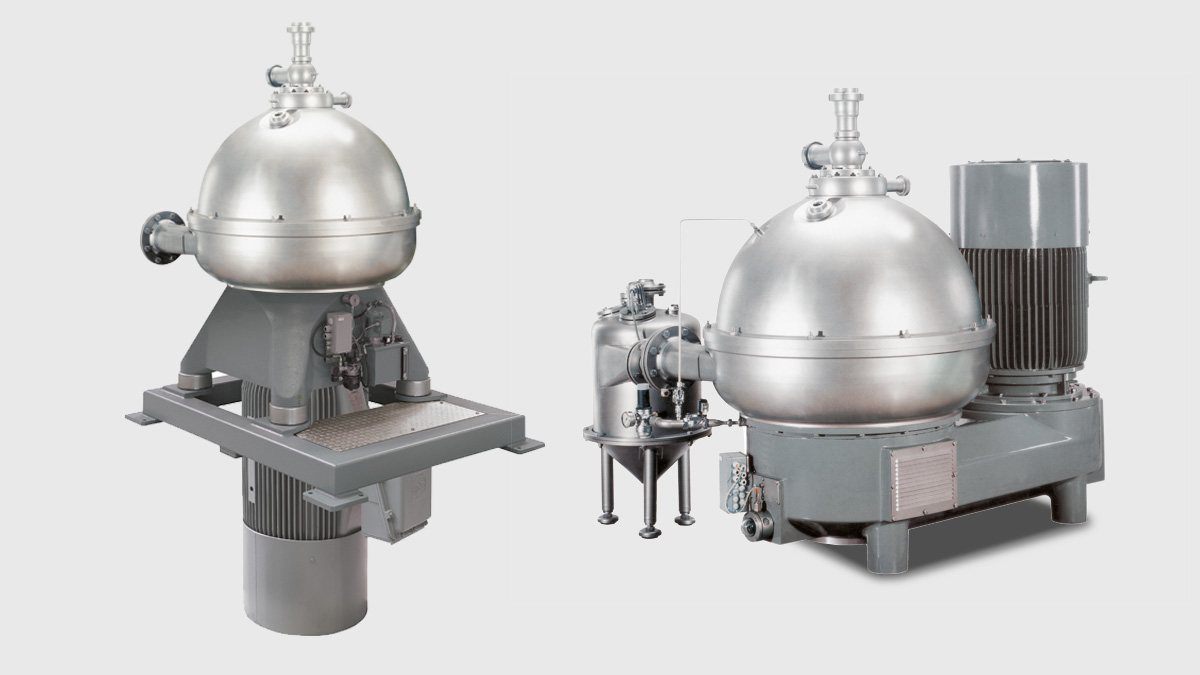 Nozzle separators for bakers yeast