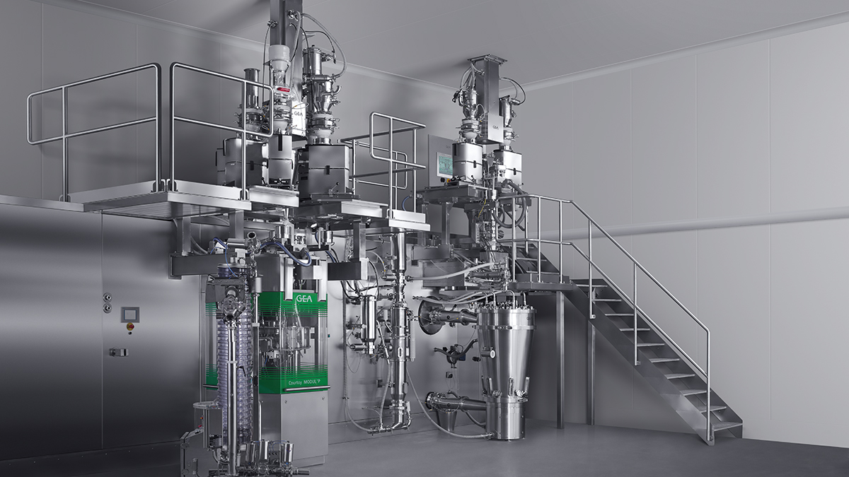Installatie van GEA ConsiGma™ 25 in de laboratoria van Pfizer in Groton (Connecticut, USA)