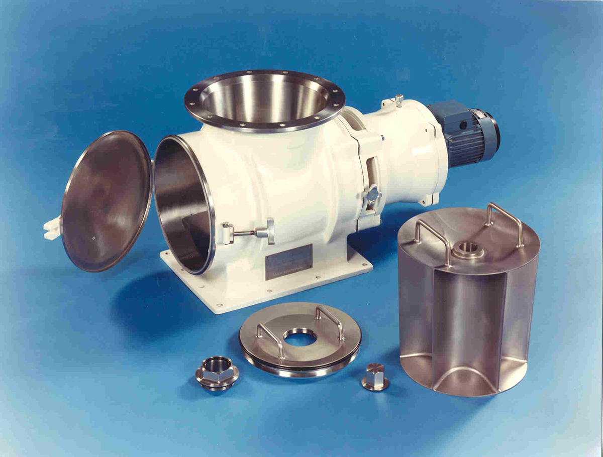 A rotary valve with conical rotor