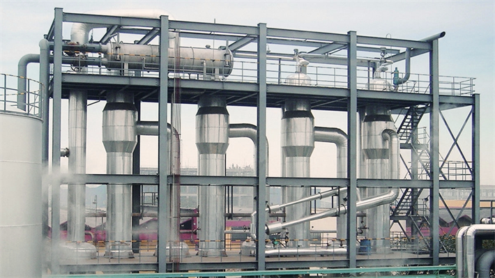 TVR heated evaporation plants