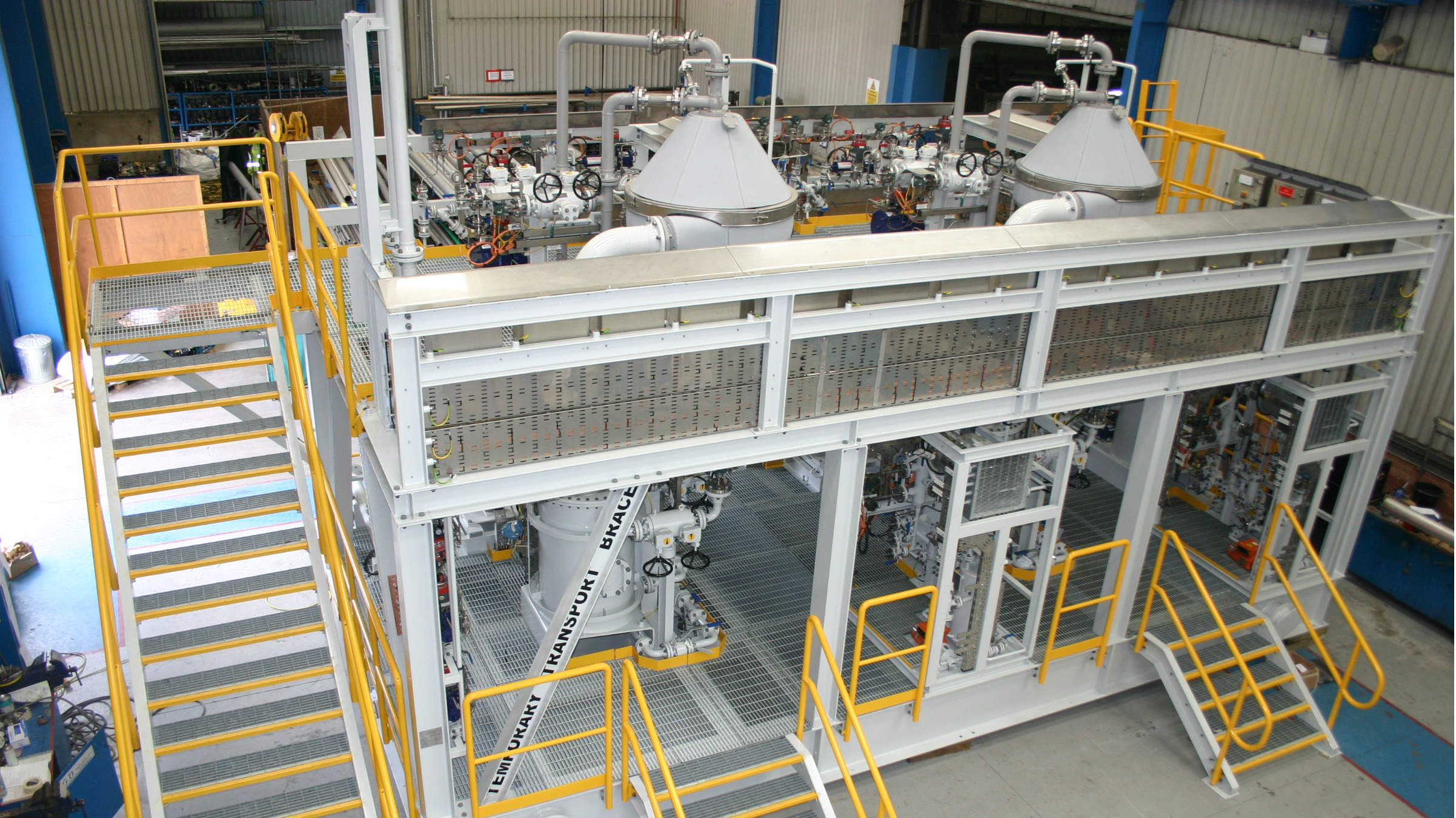 GEA has delivered two centrifuges for monoethylene glycol (MEG) purification at BP's West Nile Delta offshore natural gas field in Egypt.  (Photo: GEA)
