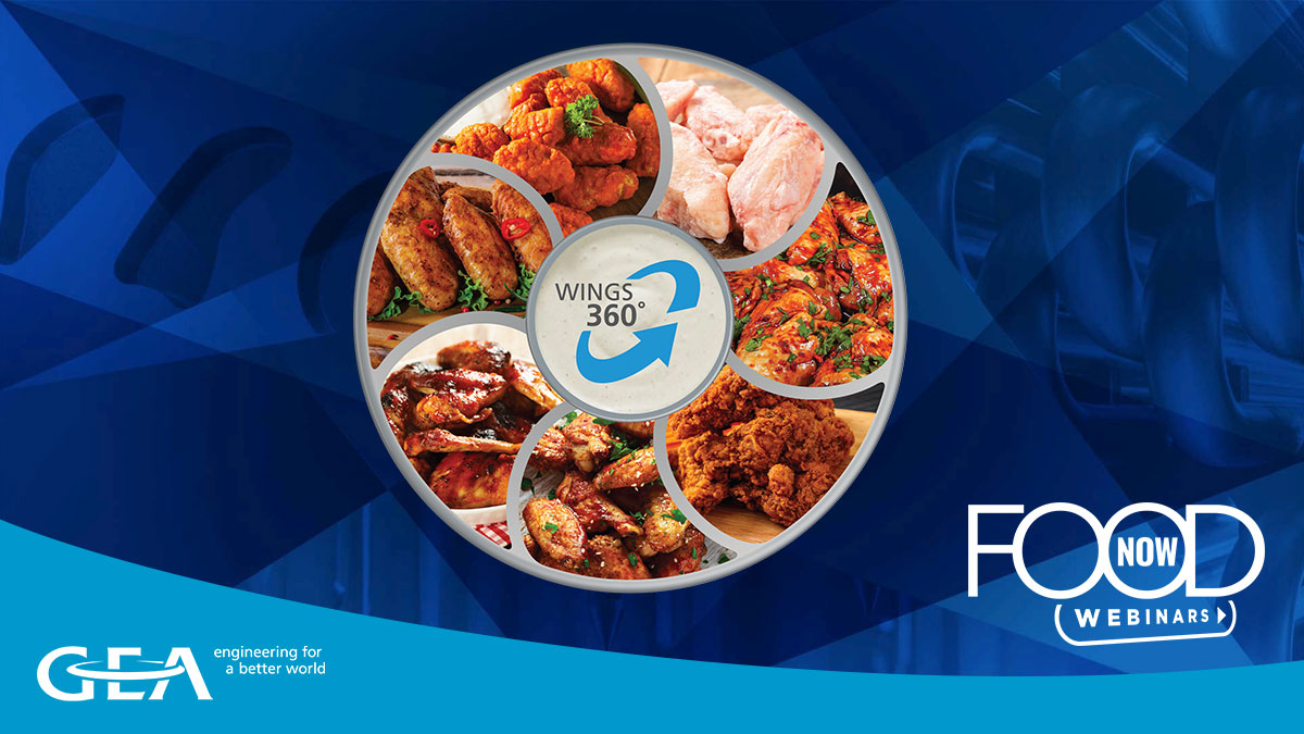 GEA Food Now webinar: WINGS360° - How to make your wings production fly!