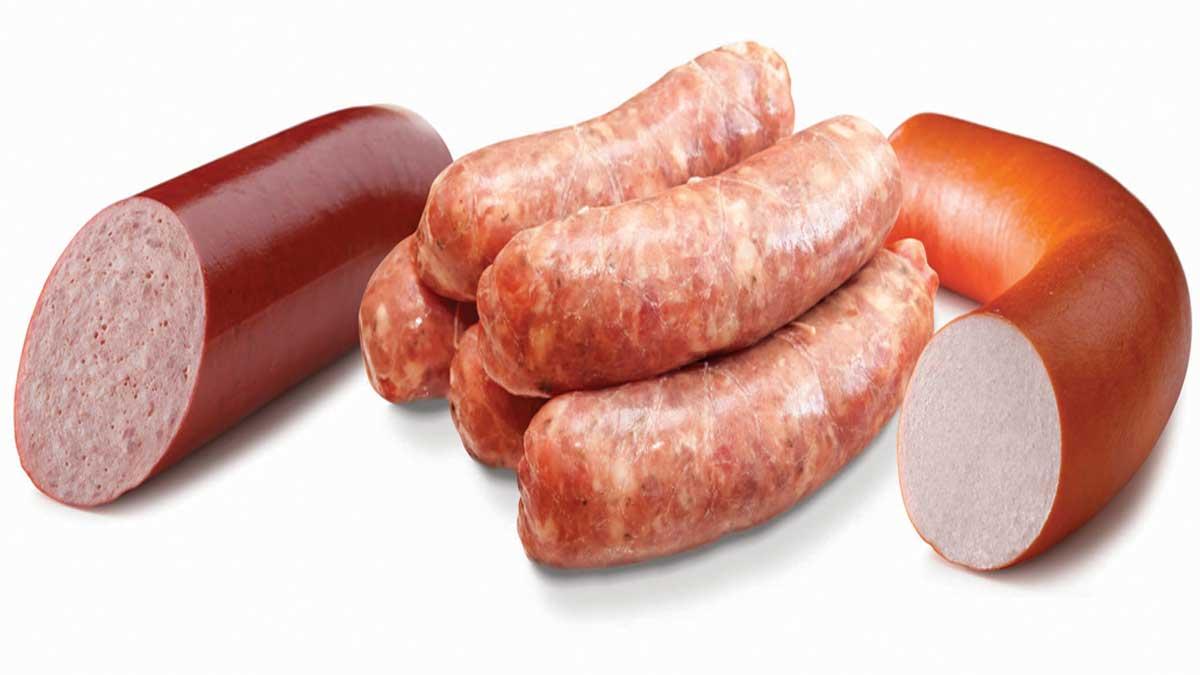 Картинка колбасы для детей на прозрачном фоне