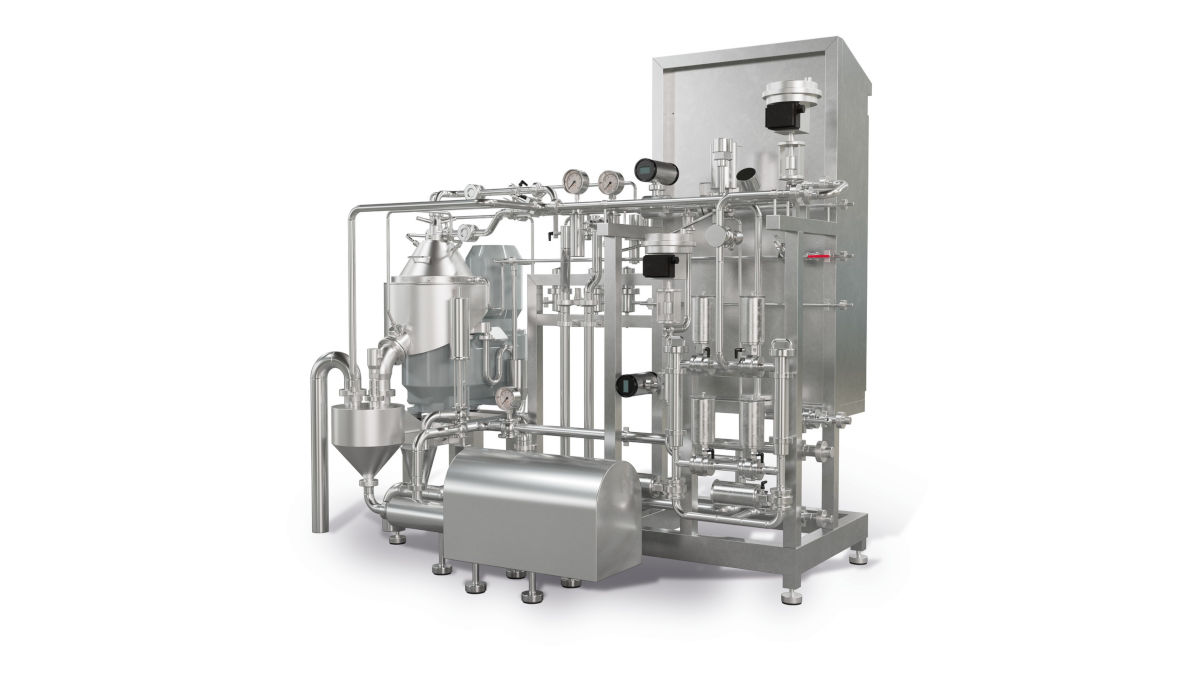 The standard scope of KDB 3 supply includes a pre-piped and wired skid. Additional options are available for the new KDB 3 skid, providing an optimized process flow control. (image: GEA)