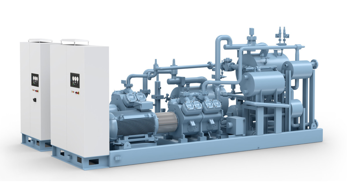 The new GEA Blu-Red Fusion is a combination of a GEA BluAstrum or GEA BluGenium chiller (low stage) with a GEA RedAstrum or GEA RedGenium heat pump (high stage). (Photo: GEA)