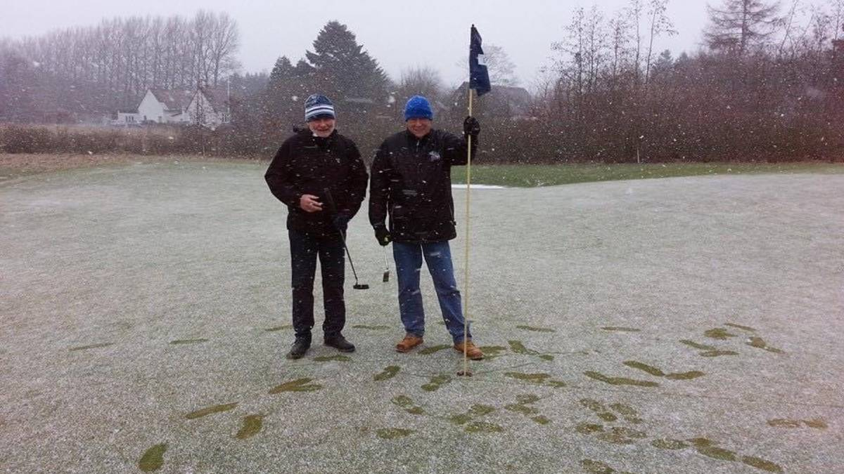 Poul and Poul at winter golf