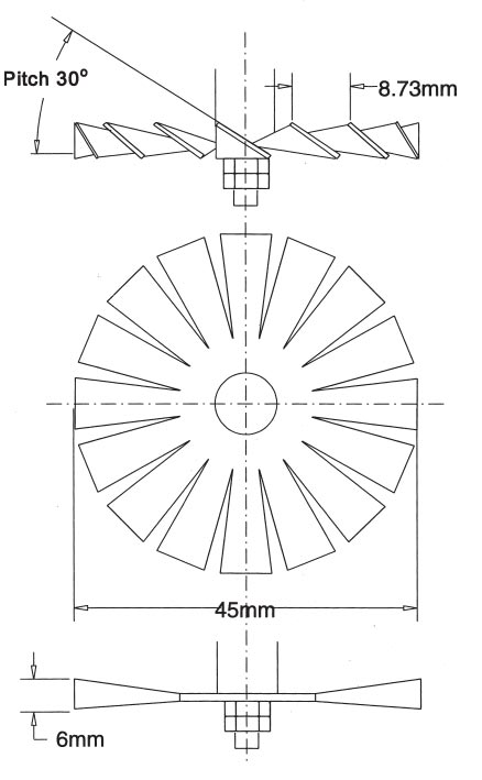 Impeller for Insolubility mixer