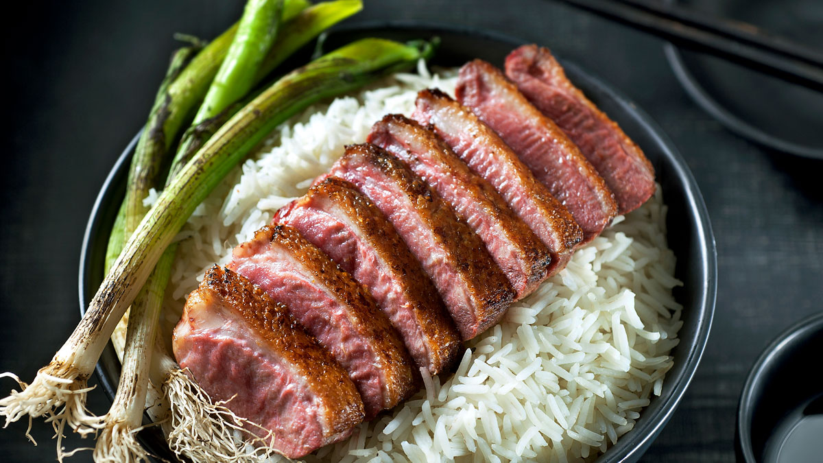 Roasted beef teriyaki and rice