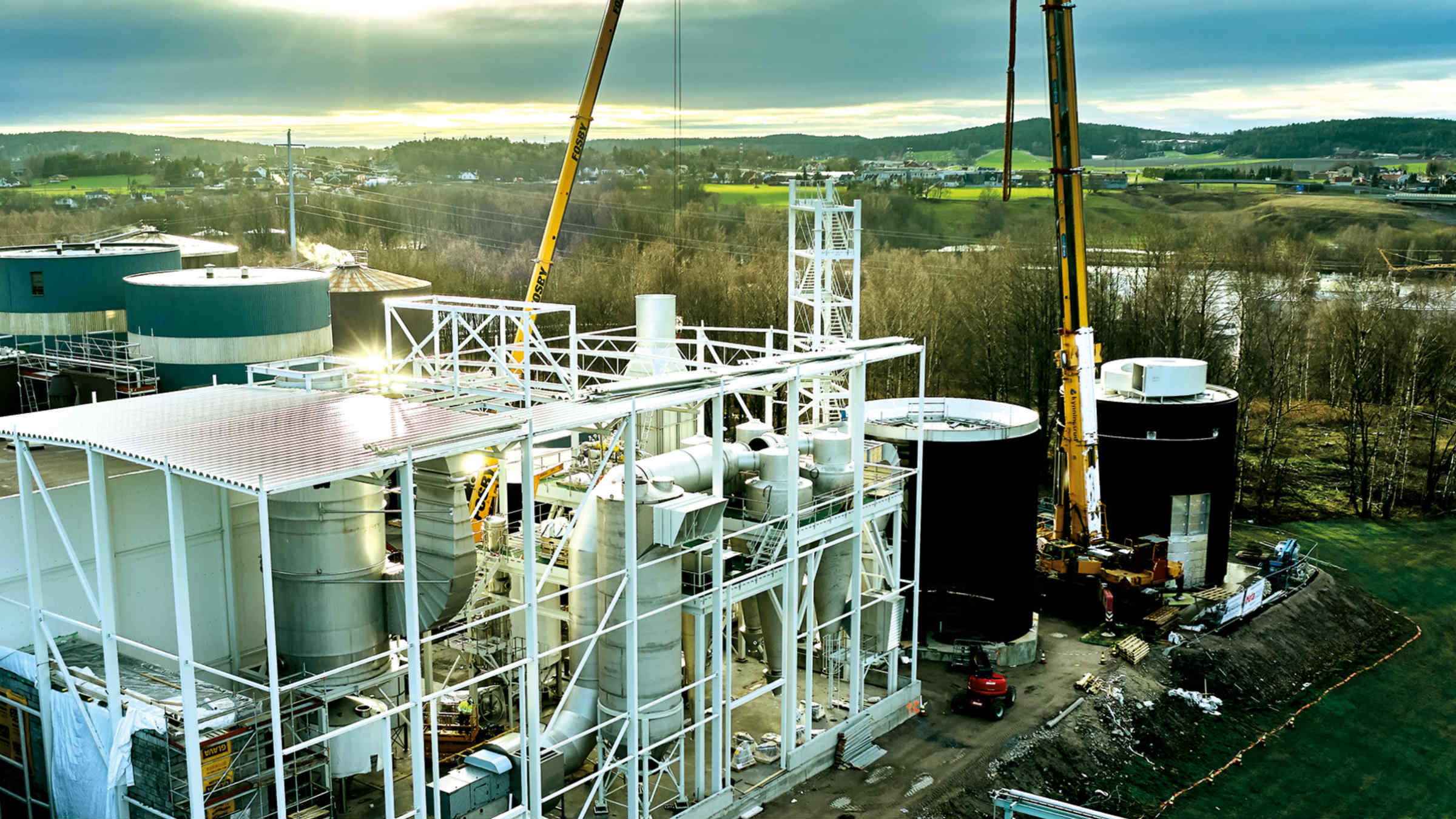 Assembly of Spray drying facility at Borregaard (Photo: GEA)