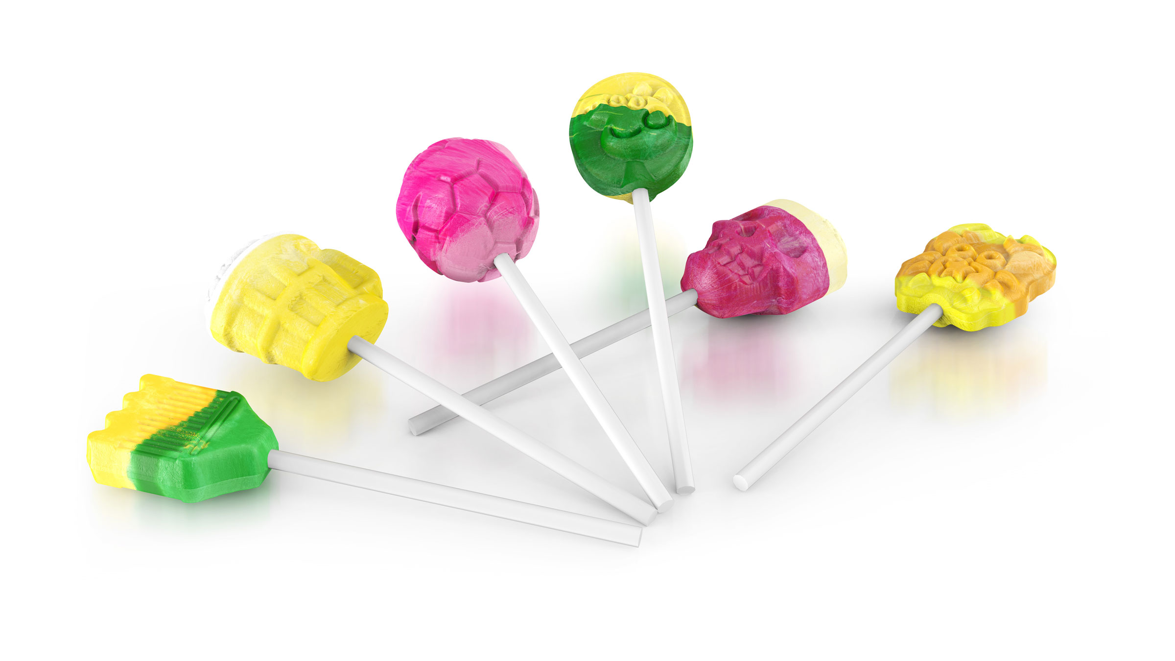 3D lollipops
