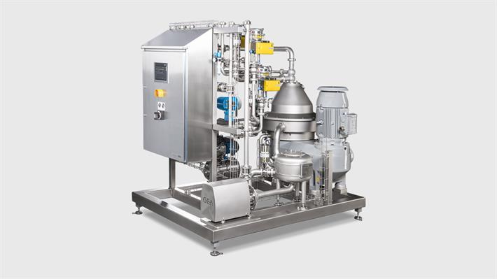 Separator and Standardization Unit GEA dairysmart for Milk, Whey and Cream