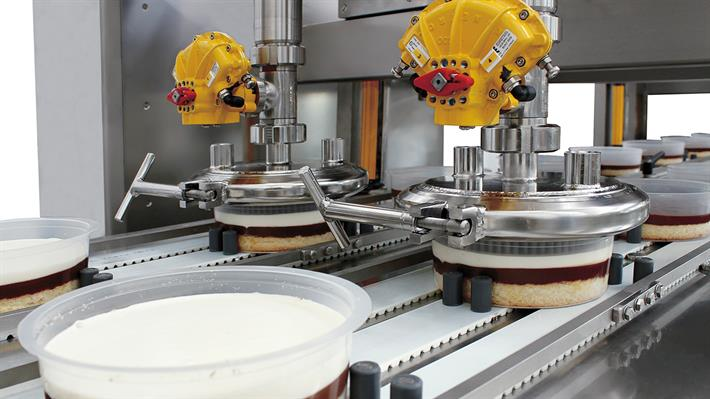 Layer cake production lines