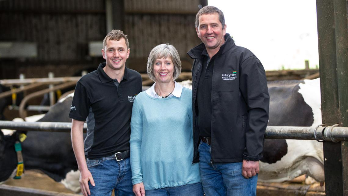 Automated milking reduces labour costs and increases productivity for Scottish farm family
