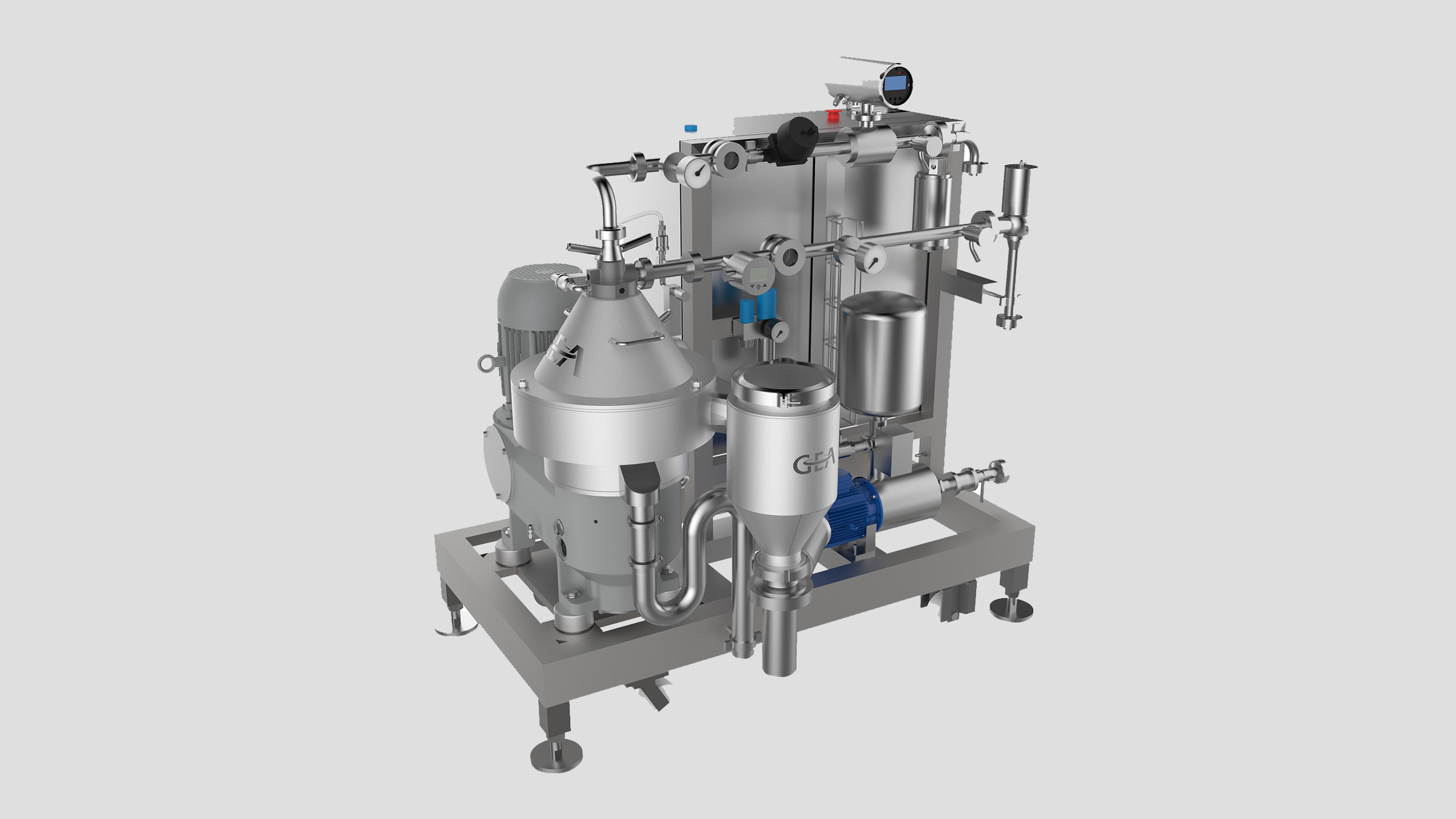 GEA brewpub separator skid for craft beer