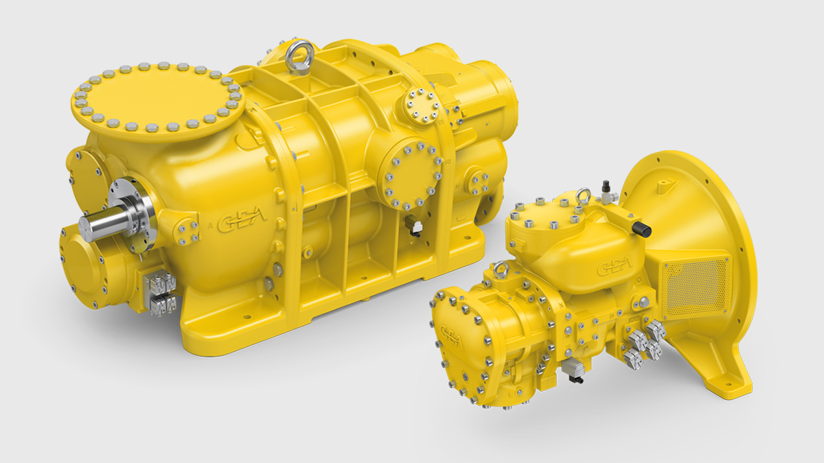 GEA gas screw compressor