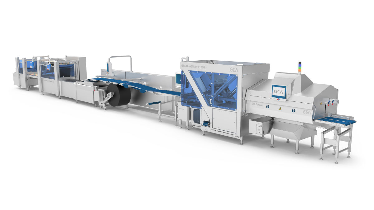The high-performance slicing and packaging line from GEA meets each customer requirement. (Photo GEA)